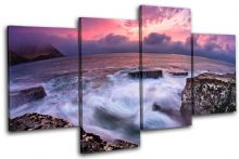 Rocky shore Sunset Seascape - 13-0399(00B)-MP04-LO